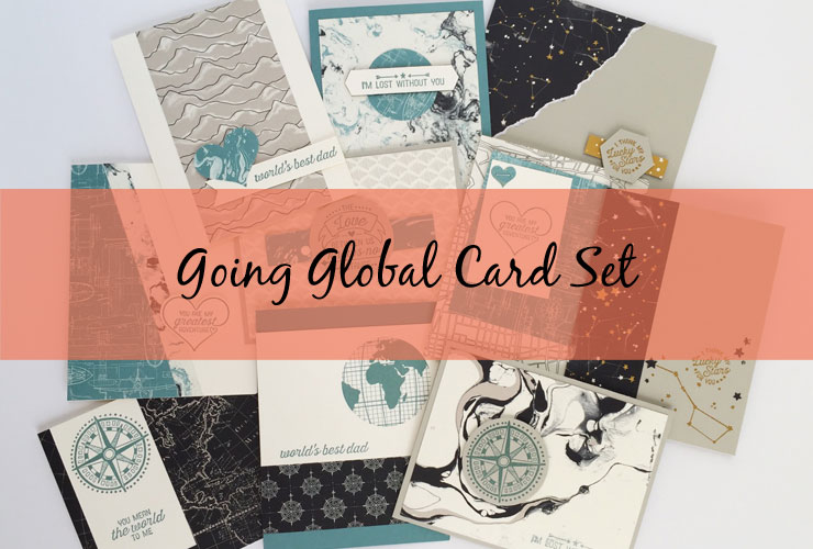 Going Global Card Set – Make a varity of cards using the Going Global stamps and Going Places DSP. | #mackenziemakes #makewithme #stampinup | www.mackenziemakes.com