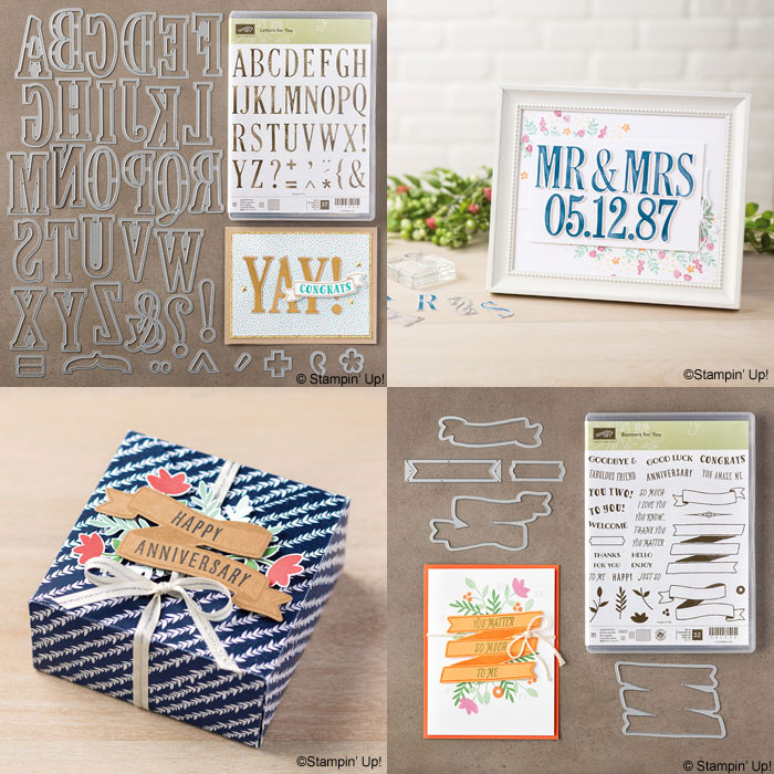 New Catalog | Two of my favorites from the new catalog, Letters for You Bundle and Banners for You Bundle from Stampin' Up!