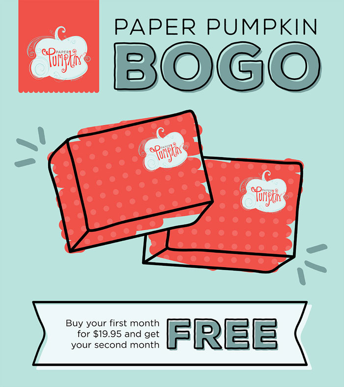 BOGO Paper Pumpkin now until October 10