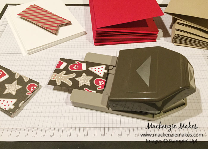 One Sheet Wonder Card Set with Candy Cane Lane DSP – Make 24 Christmas cards using two sheets of Candy Cane Lane DSP. | #mackenziemakes #makewithme #stampinup | www.mackenziemakes.com