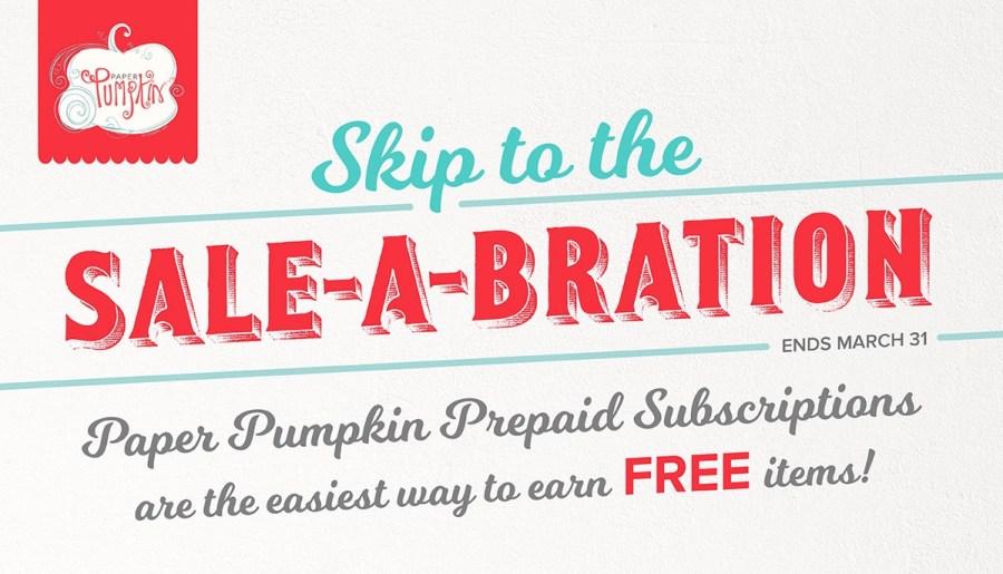 Paper Pumpkin perks for Sale-A-Bration