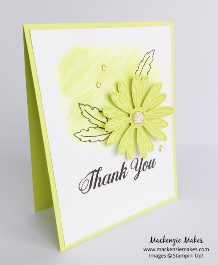 Daisy Delight In Color Cards – Check out the new 2017-2019 In Colors with this set of cards featuring the Daisy Delight bundle.   #mackenziemakes #makewithme #stampinup   www.mackenziemakes.com