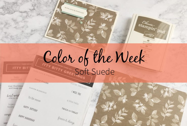 Color of the Week - Soft Suede – Click through to see this week's Color of the Week -Soft Suede. Find color combinations and comparisons, and a list of products containing this color. | #mackenziemakes #makewithcolor #stampinup | www.mackenziemakes.com