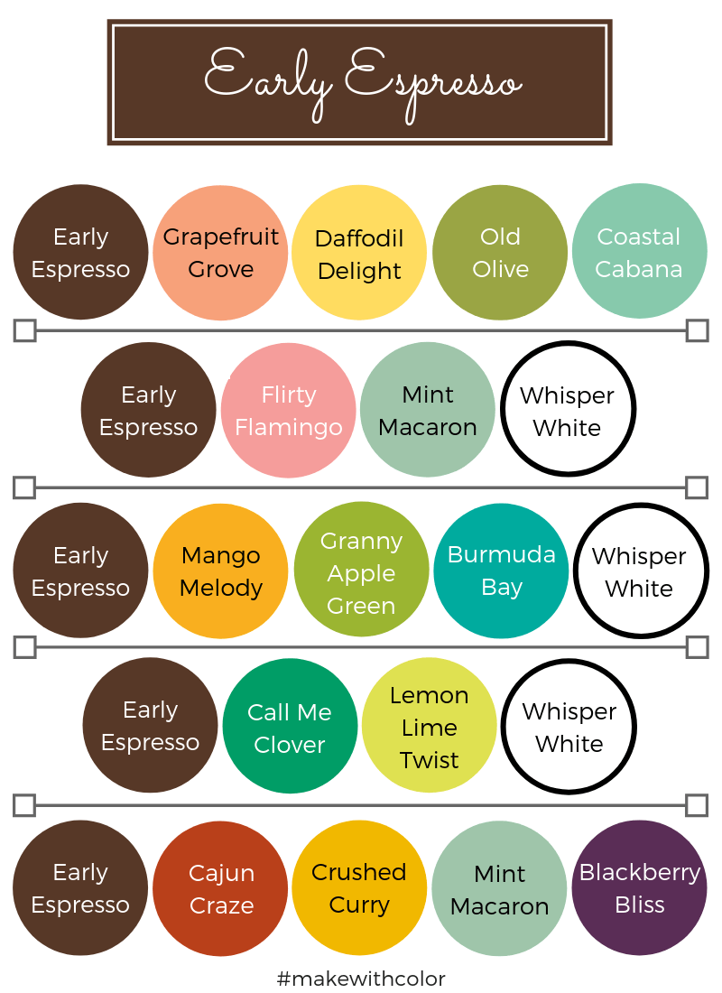 Color Combos Early Espresso