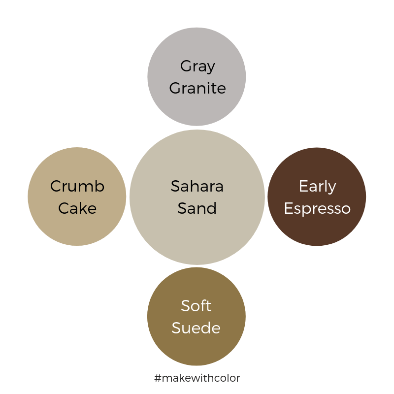 Color Comparison Sahara Sand