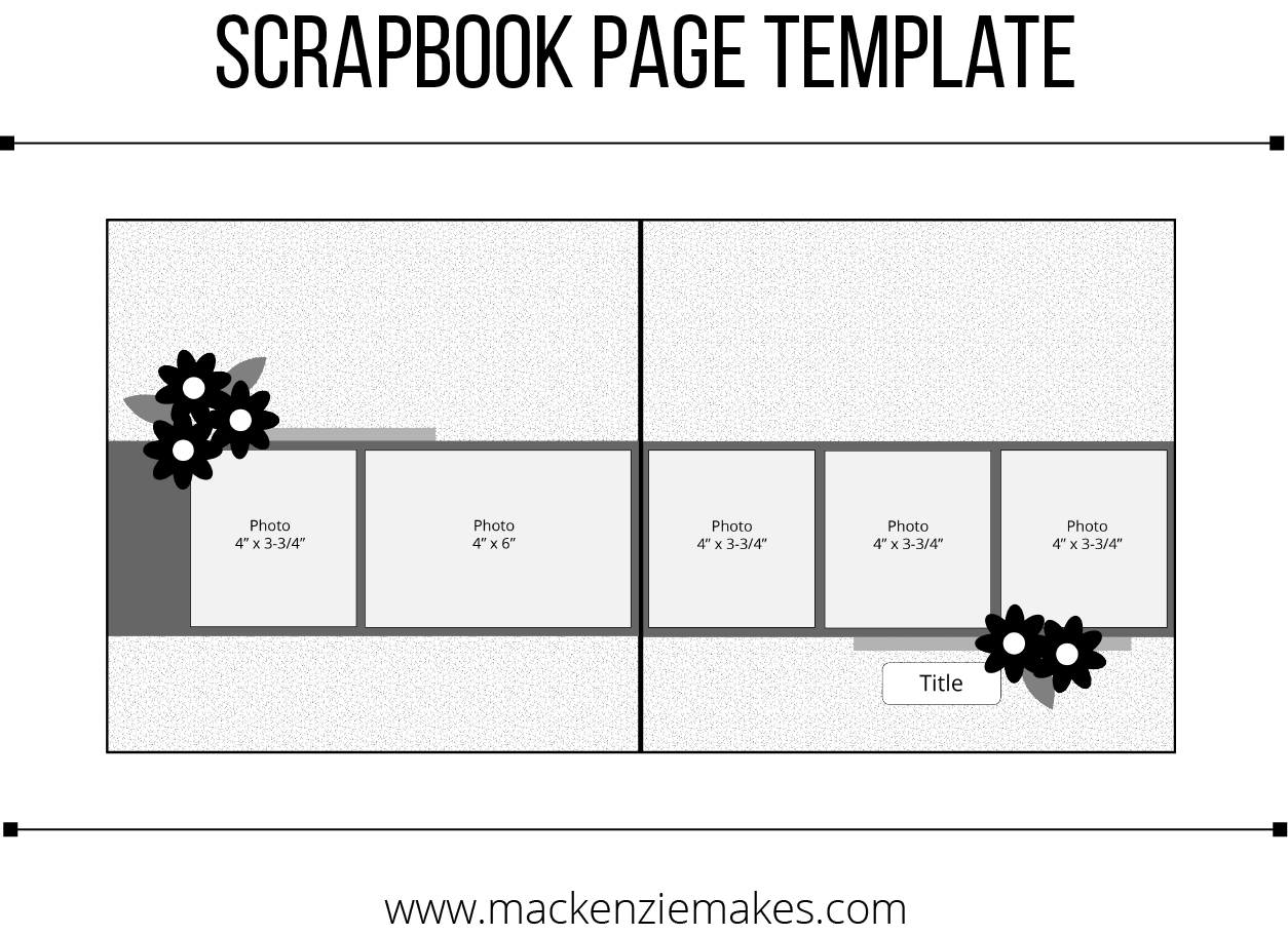 Painted Seasons Scrapbook Pages - Scrapbook Template