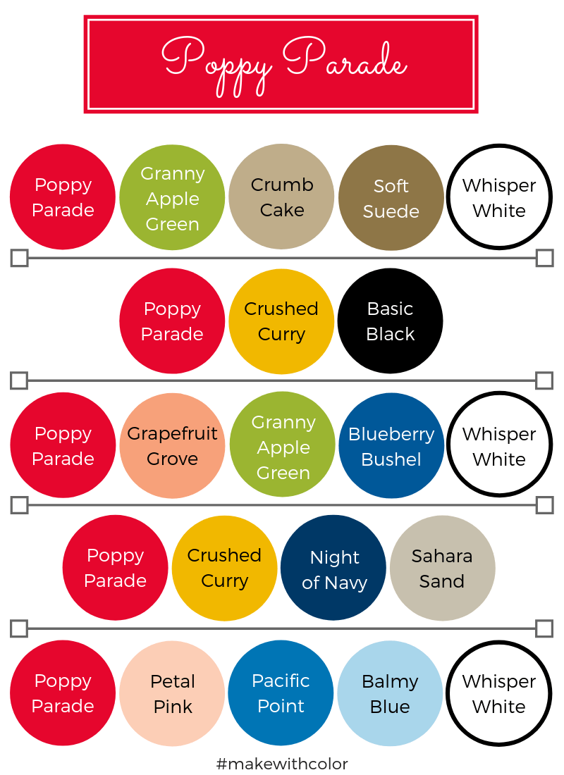 Color Combos Poppy Parade