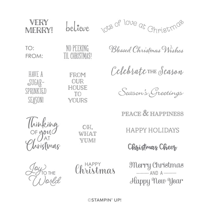 Itty Bitty Chirstmas Stamp Set