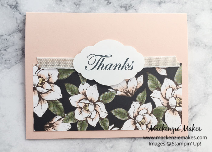 One Sheet Wonder Card Set with Magnolia Lane DSP – Create 10 beautiful cards using 1 sheet of paper from the Magnolia Lane Designer Series Paper. Click through to learn how and to get the template design. | #mackenziemakes #makewithDSP #stampinup | www.mackenziemakes.com