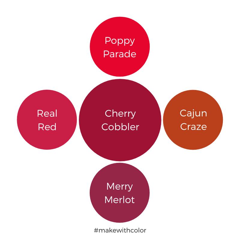 Color Comparison Cherry Cobbler