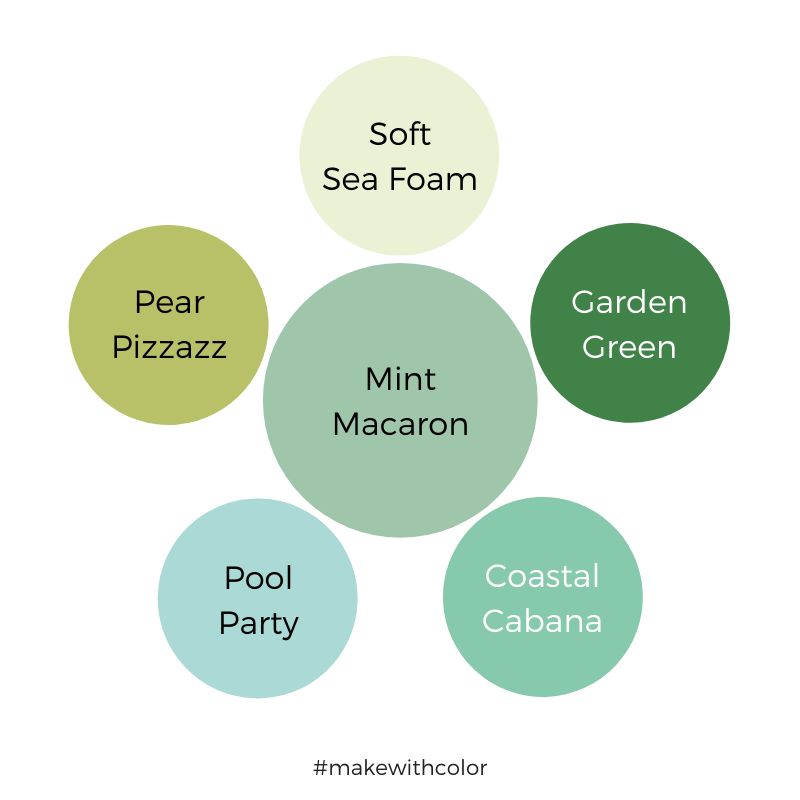 Color Comparison Mint Macaron