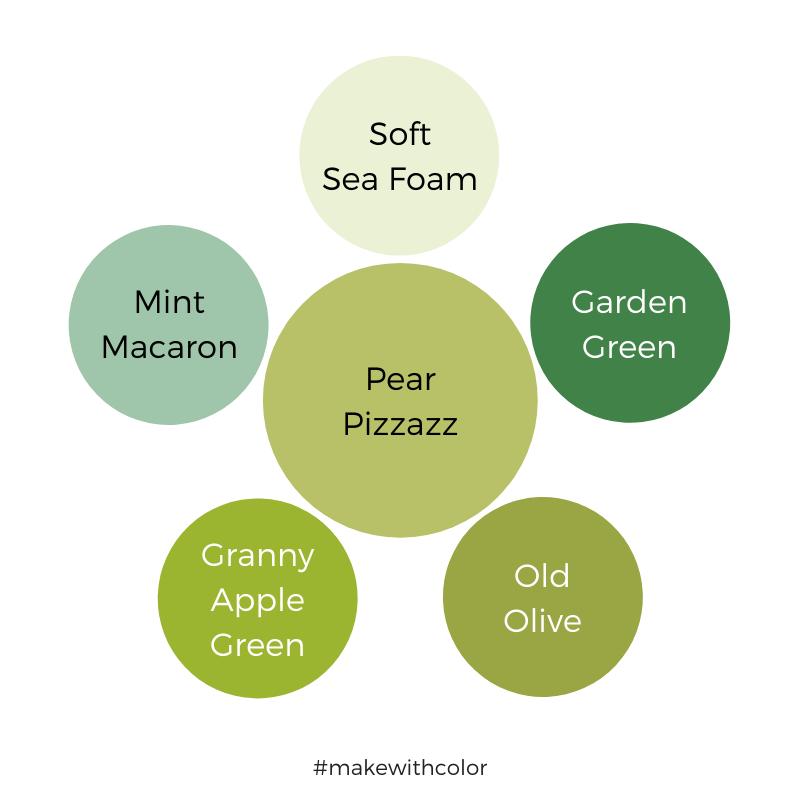 Color Comparison Pear Pizzazz