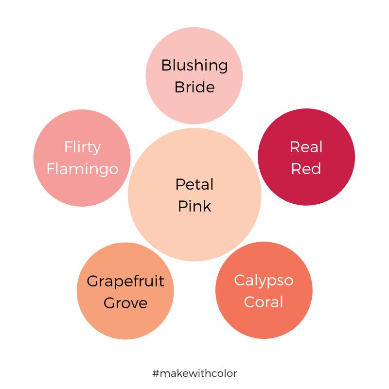 Color Comparison Petal Pink
