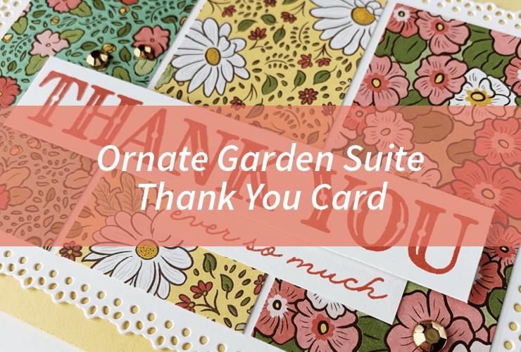 Ornate Garden Suite Thank You Card