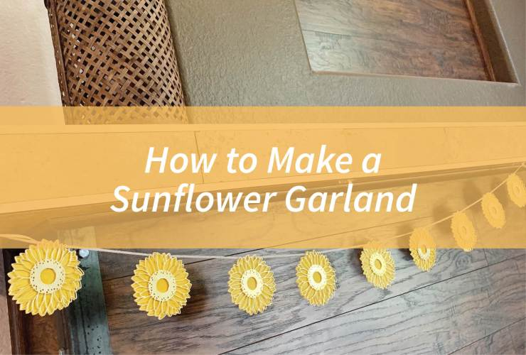 How to Make a Sunflower Garland – Click through to learn how to make a sunflower garland using the Celebrate Sunflowers Bundle from Stampin' Up! | #mackenziemakes #stampinup | www.mackenziemakes.com