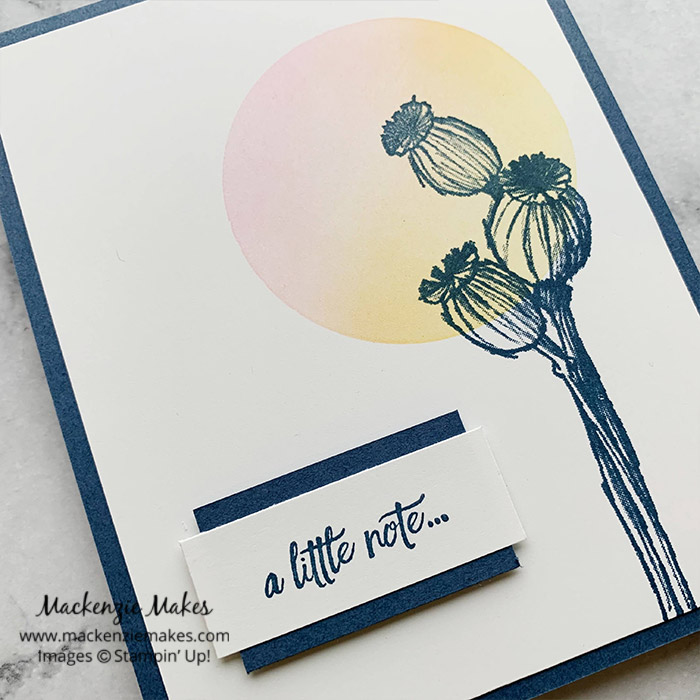January 2021 Technique Blog Hop - Blending Brushes – Click through to learn how to make a simple card using the Blending Brushes. | #mackenziemakes #stampinup | www.mackenziemakes.com