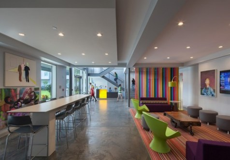 SCAD s New Residence Hall   Mackey Mitchell Architects Interior spaces were conceived as canvases for the display of artwork which  enliven the building s raw  loft like feel  The project also features three