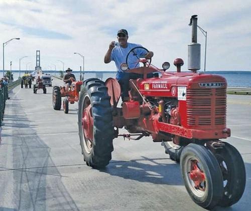 9th Annual Mackinac Bridge Antique Tractor Crossing ...