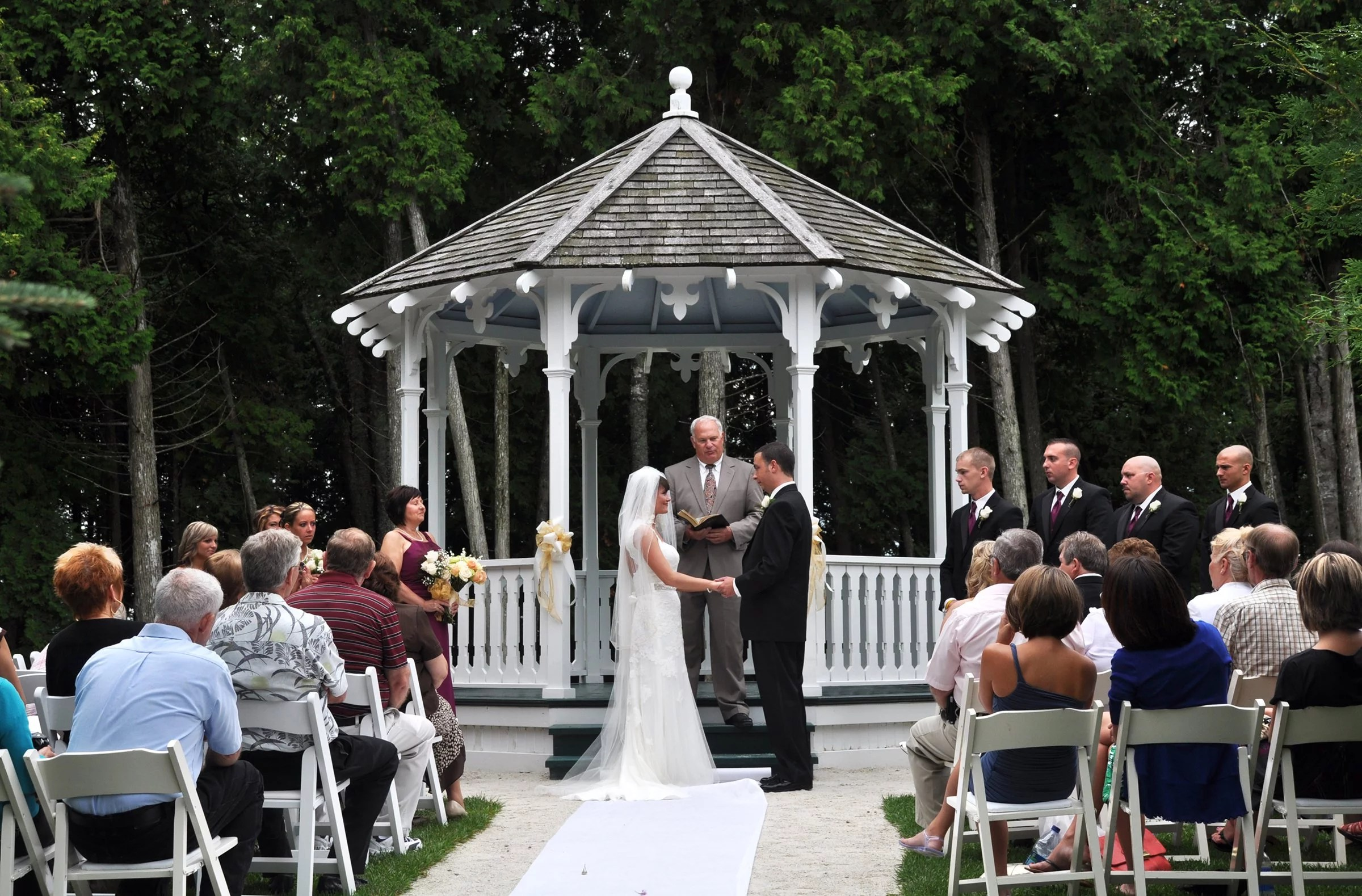 Image result for image of a wedding in a gazebo