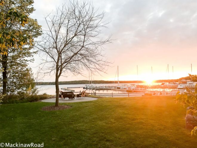 Traverse City Boathouse Sunset