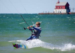 Freeride kiteboarding style