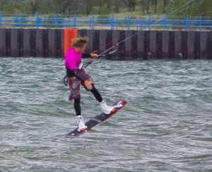 Wakestyle kiteboarding style