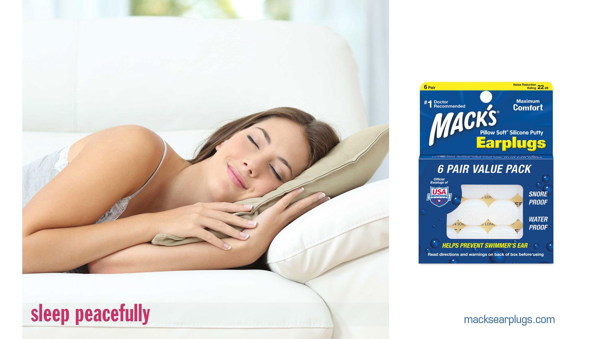 sleeping ear plugs macks pillow soft