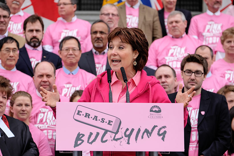 Image result for Christy Clark to young girls