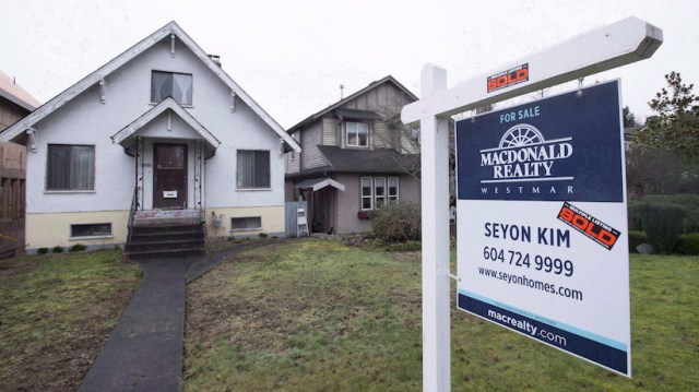 A Sold Home Is Pictured In Vancouver B C Thursday Feb 11 The