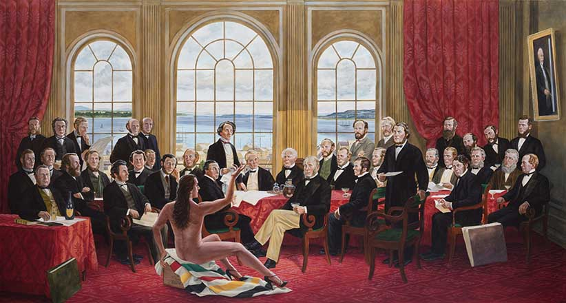 "A painting called ""The Daddies"" by artist Kent Monkman from his show Shame & Prejudice: A Story of Resilience. (Kent Monkman)"