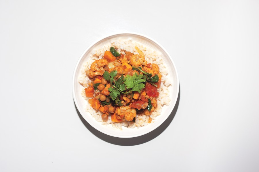 CHICKPEA CURRY IN A HURRY (Photograph by Sarah Palmer)