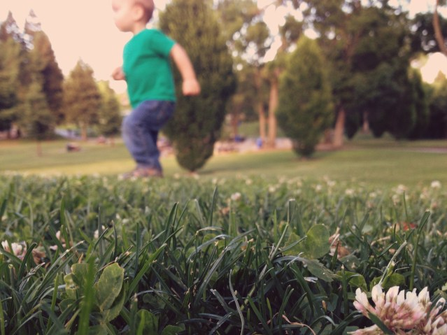 Generational wealth - child running in a park