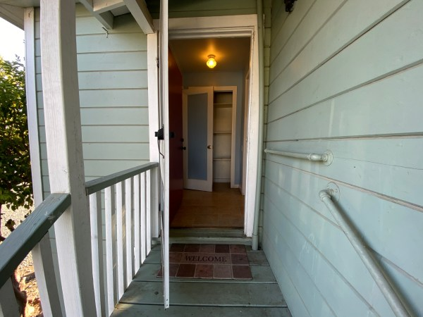 Entry door to apartment a