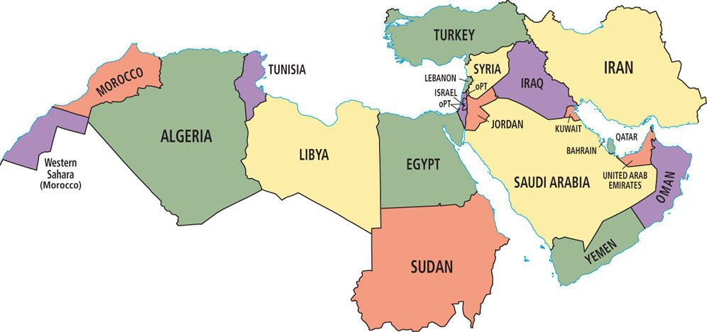 Pin Middle east north africa and southwest asia physical map on Pinterest