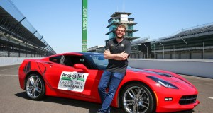 Young adult fiction author and Indiana native John Green will drive the 2016 Chevrolet Corvette Stingray Coupe pace car for the Verizon IndyCar Series Angie's List Grand Prix of Indianapolis at the Indianapolis Motor Speedway on Saturday, May 14 in Indianapolis, Indiana. (Photo by Bret Kelley for Chevrolet)