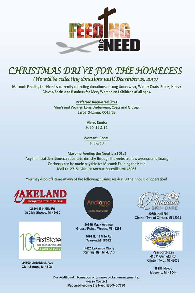 Christmas Drive for the Homeless