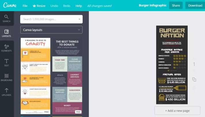 Vos infographies sur Canva