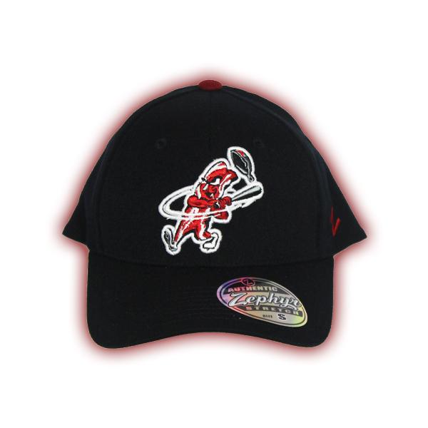 92da24eae308d Bacon Man FlexFit Cap – Black - Macon Bacon Baseball