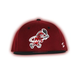 e5119d200f009 Authentic Macon Bacon Cardinal Black Fitted Cap