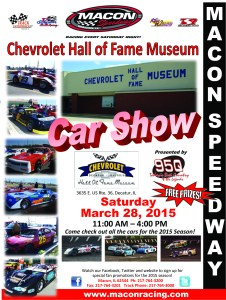 Chevrolet Hall of Fame Car Show flier 2015