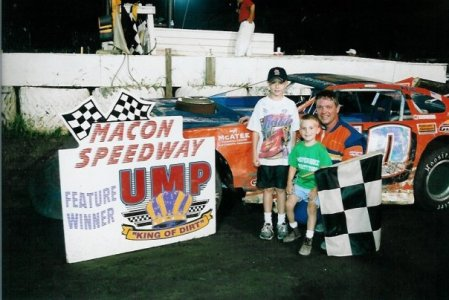 late model win with boys