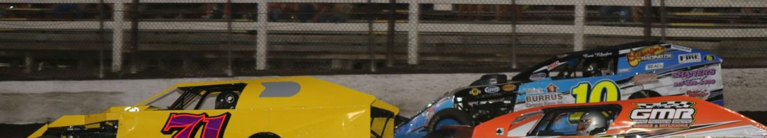 Modifieds In Action During June 10 Event At Macon (Double J Photo)