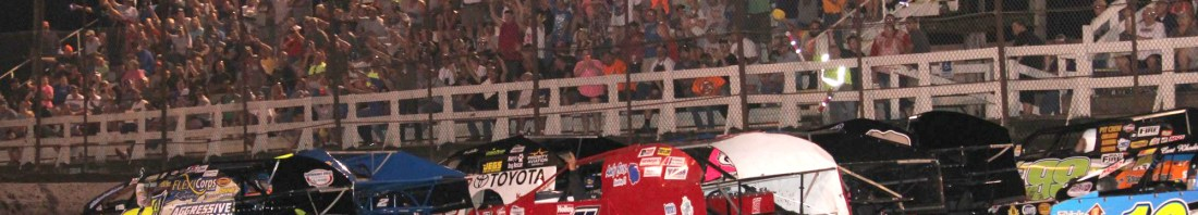 Packed House Salutes Drivers In Billingsley Elite Wash Modifieds on Thursday July 6 At Macon Speedway (Double J Photo)