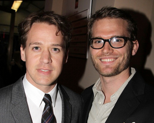 """NEW YORK, NY - OCTOBER 13:  T.R. Knight and boyfriend Patrick attend the """"Who's Afraid Of Virginia Woolf?"""" Broadway Opening Night at The Booth Theatre on October 13, 2012 in New York City.  (Photo by Bruce Glikas/FilmMagic)"""