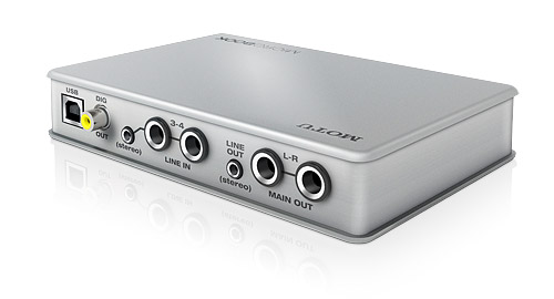 MOTU MicroBook USB Audio Interface, rear