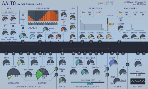 Madrona Labs Aalto software synthesizer