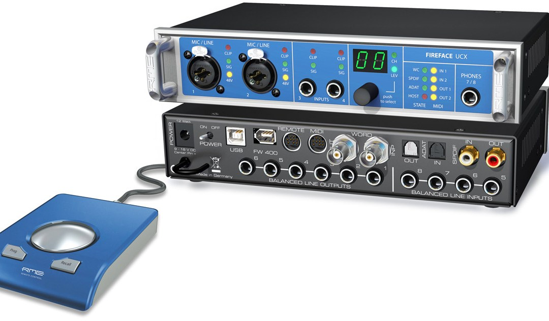 RME Reveals Fireface UCX for Computer and iPad