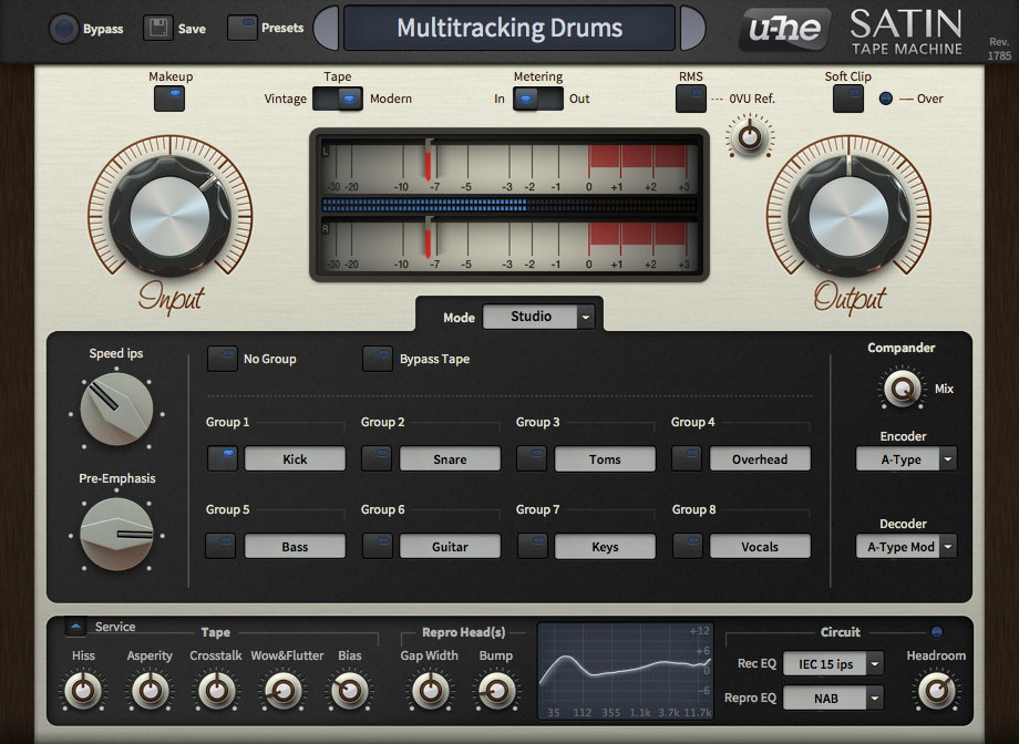 u-he Satin Tempts Analog Tape Effects From Software