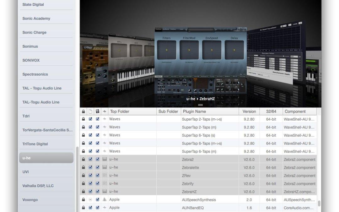 Auganizer Renames and Rearranges Your Audio Units