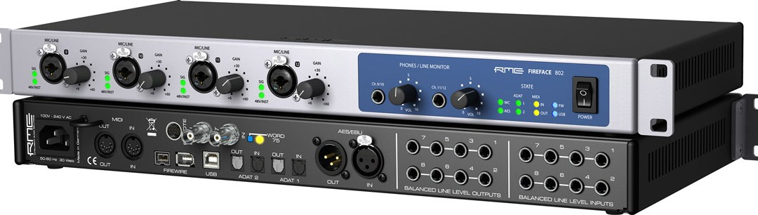 RME Introduces Fireface 802 Interface